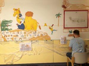 Unité de pédiatrie relookée au CHU Saint-Pierre
